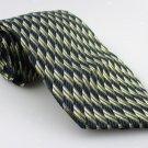 Men's New FOGGIA 100% Silk Tie Green Blue NWOT Necktie Ties GR0108