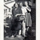 1950s African-American People Man Women Porch Old Photo Vintage Black Americana