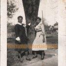 Vintage African American Photo Pretty Women Posing By Tree Old Black Americana