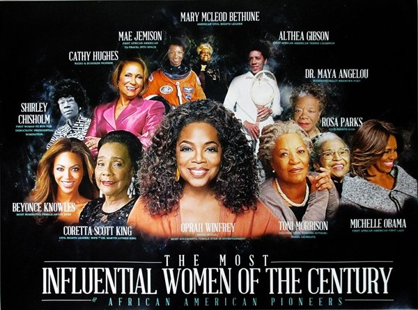 The Most Influential Women of the Century 18x24 Color Poster African American