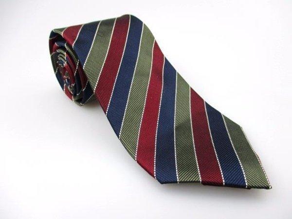 Men's New JOHN HENRY 100% Silk Tie Blue Red Green NWOT Necktie Ties BL0134