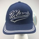 New Baseball Cap MIAMI City Curved Blue Adjustable Velcro Hat Men's Unisex