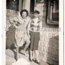 1940s Vintage Pretty African American Women Posing Smile Old Photo Black People