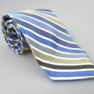 Men's New COVINGTON Tie Blue Gold White Stripes NWOT Necktie Ties BL0146