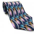 STONEHENGE Men's New 100% Silk Tie Blue Lavender Teal NWOT Necktie Ties BL0167