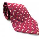 JOS A BANK Men's New 100% Silk Tie Red Gold NWOT Necktie Ties BL0191