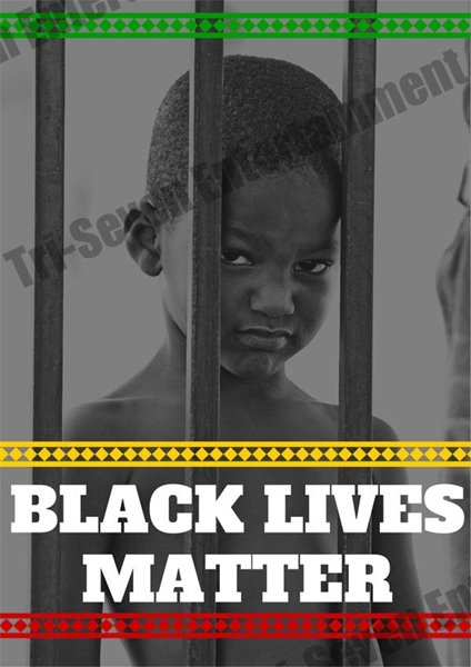 Black Lives Matter 18x24 Color Poster Art Print African American Boy
