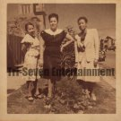 Vintage African American Photo Pretty Beautiful Women Posing Old Black Americana