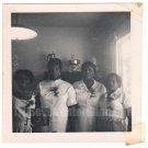 1950s Vintage African American Women White Dresses Flower Photo Black Americana