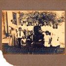 1910s Antique 7x9 Photo Medium Cabinet Card White Portrait Original Vintage USA