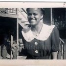 1940s Vintage Smiling African-American Woman Photo Dress Black People Americana