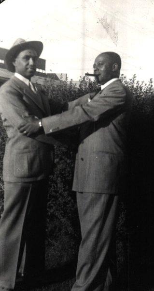 Vintage African American Photo Handsome Man Men in Suits Old Black Americana