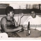 Vintage African American Photo Women Talking Posing at Table Black Americana