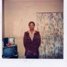1980s Vintage Handsome African-American Man in Coat Photo Black People Color USA