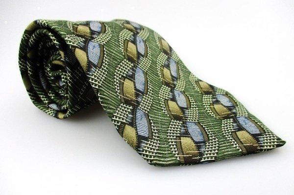 Men's New ARROW 100% Silk Tie Green Blue NWOT Necktie Ties GR0109
