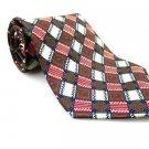 STRUCTURE Men's New 100% Silk Tie Red White NWOT Necktie Ties R0195