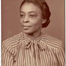 Vintage Sophisticated Older African-American Woman Studio Photo Black Americana