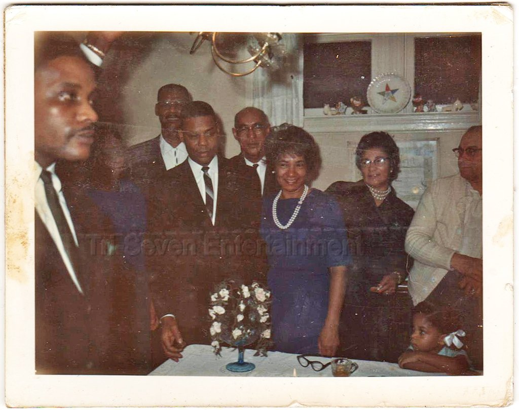 1964 Vintage African-American Birthday Party Old Photo Black Americana People