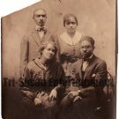 Antique African American Photo Family Group People Women Men Old Black Americana