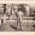 1940s Vintage Dapper African-American Man Posing Photo Black People Americana US