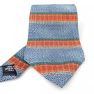 Men's New Mondo Classico 100% Silk Tie Blue Orange NWOT Necktie OR068