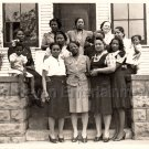 Vintage Large Family of African-American Women Old Photo Black Americana People