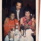 1970s Vintage Handsome African-American Man w/Ladies Photo Black People Color US