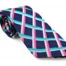 Men's New RICHARD JAMES London 100% Silk Tie Blue Pink NWOT Necktie Ties BL0141