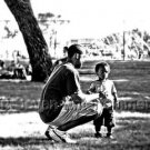"""African-American Black Father and Son Photo - 8X10 - """"Where's Mama?"""""""