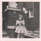 1940-1949 Vintage Cute American Girl Posing Photo Kid Children Black and White