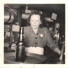 1940s-1950s Vintage African-American Mulatto Woman Bartender Photo Black People