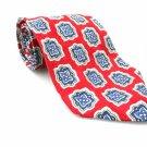 ROBERT TALBOTT Men's New 100% Silk Tie Red Blue NWOT Necktie Ties R0199