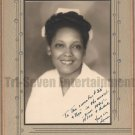 Vintage African American Pretty Woman Nurse Mounted Old Photo Black Americana