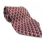 PIERRE CARDIN Men's New Tie Burgundy Black Stripes NWOT Necktie Ties R0186