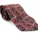 STAFFORD Men's New Tie Burgundy White NWOT Necktie Ties R0200