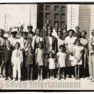 Antique African American Photo Family Group People Men Women Old Black Americana