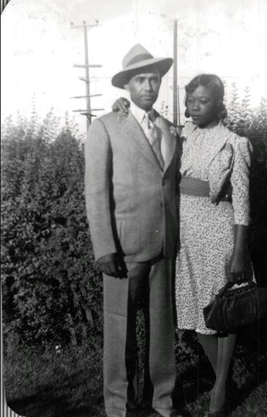 Vintage African American Photo Pretty Woman Man Women Couple Old Black Americana