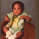 1970s Vintage African American Cabinet Card 8x10 Cute Baby Photo Black Americana