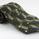 Men's New CHEZ ROFFE 100% Silk Tie Green Brown NWOT Necktie Ties GR0107