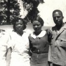 Vintage African American Photo Pretty Women Family Men Group Old Black Americana