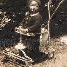 30s Antique Cute African American Black Baby Boy Child Old Photo Black Americana