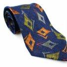 Men's New ERMENEGILDO ZEGNA Silk Linen Tie Blue Orange NWOT Necktie Ties BL0152