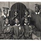 1950s Vintage African American Photo Graduation Class Black Americana (Glossy)