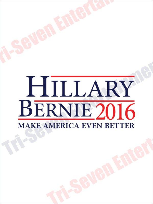 Hillary Clinton Bernie Sanders Presidential Campaign Poster 2016 New 18x24 White