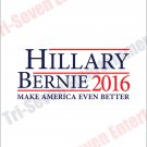 Hillary Clinton Bernie Sanders Presidential Campaign Poster 2016 New 18x24 White