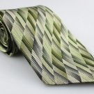 Men's New JOSEPH & FEISS 100% Silk Tie Olive Green NWOT Necktie Ties GR0103