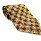 XMI Men's New Silk Tie Burgundy Yellow Black NWOT Necktie Ties R0198
