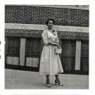1956 Vintage Pretty African American Woman in Dress Old Photo Black Americana