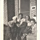 1940-50s Vintage Photo Pretty Classy Well-Dressed African-American Women Photo