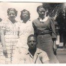 1940 African American Pretty Women Girl Man Old Group Photo Black People Vintage